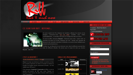 Website for the webradio Riff