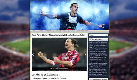 Website about soccer player Zlatan Ibrahimovic